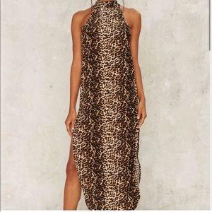 Nasty gal leopard dress xxs